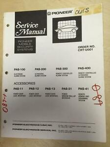 Pioneer Service Manual for the PAS 100 200 300 400 Mobile Security Systems ~ mp