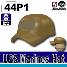 Dark Tan Marine Hat Cap for LEGO army military brick minifigures