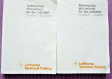2 Lufthansa technische Wörterbücher deutsch-englich, englisch-deutsch