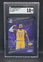 2019-20 Panini Donruss Optic LeBron James #13 LA Lakers SGC 10