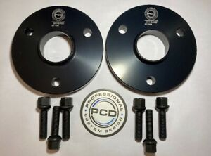 Smart 450 451 ROADSTER 3x112 Hubcentric Spacers 25mm Wide 57.1CB & 6 Bolts BLACK
