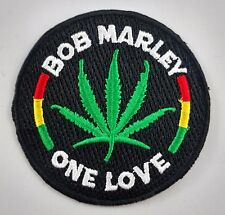 Bob Marley One Love Patch Badge Embroidered Iron On Applique