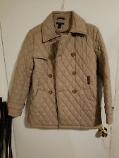 TOMMY HILFIGER Women Quilted Puffer Jacket Coat Double Breasted M