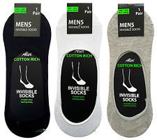 Men's Invisible Socks Summer Multipack Cotton Ankle Trainer Liners UK 6-11