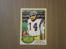 1976 TOPPS #128 DAN FOUTS SAN DIEGO CHARGERS FOOTBALL CARD