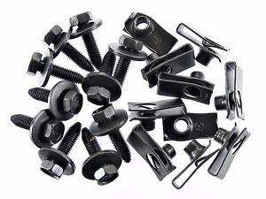 Jeep Body Bolts & U-nut Clips- M8-1.25 x 30mm Long- 13mm Hex- 20 pcs (10ea) #155