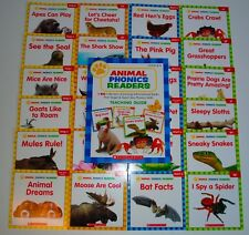 24 Animal PHONICS Readers Books Level C, D, E, F Kindergarten Grade 1 Homeschool