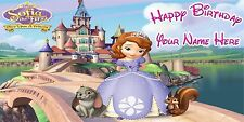 Birthday banner Personalized 4ft x 2 ft  Disney Princess Sofia