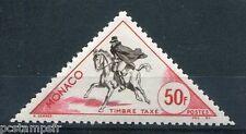 MONACO - 1953, timbre TAXE 52, COURRIER à CHEVAL, neuf**