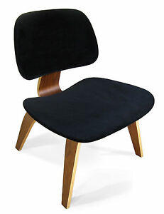 BLACK SEAT COVER for EAMES Plywood Lounge Chair - Mid Century Modern Retro Decor