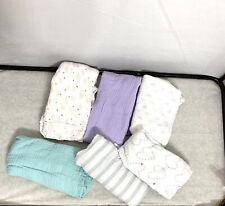 Aden & Anais Muslin Cotton Swaddle Blanket Baby Infant Lot Of 6