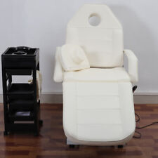 3Section Electric Massage Couch Bed Adjustable Reclining Beauty Spa Padded Table