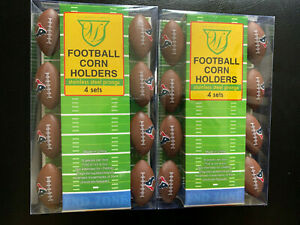 *New* (2) TWO Houston Texans 8-Pack Corn Cob Holder - FREE SAME SHIPPING