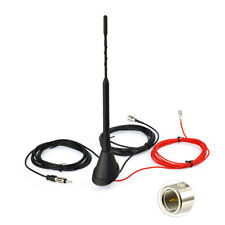 DAB+ Car Radio Antenna Aerial FME Male with Amplifier Roof Mount