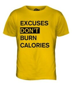 Entschuldigungen Donãt Brennen Kalorien Herren T-Shirt Oberteil Giftmotivation