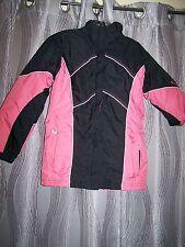 Girls Columbia Winter Coat Jacket Black Pink 14/16  Parka Youth Warm No Hood