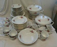 Vintage WLOCLAWEK POTTERY Floral BONE CHINA 49 Piece Large DINNER SET