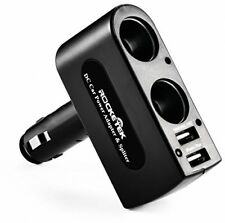[ Safe Upgraded ] Rocketek® 3.1A/15.5W Dual USB Car Charger Adapter With 2 DC