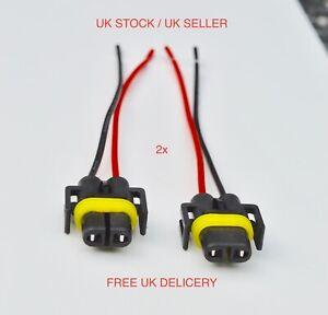 2 x H11 H8 Head Light Fog Light Bulb Holders Connector Wire Plug UK
