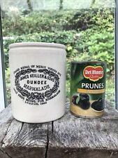 More details for vintage primitive c1900s huge 3lb james keiller & sons dundee marmalade pot jar