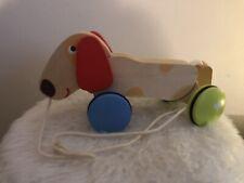 Baby Holzspielzeug * Nachziehtier * Holz Nachziehhund * Nachzieh-Dackel * Kinder