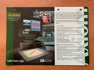 SSL Axiom Preparation Station Solid State Logic SSL Digital