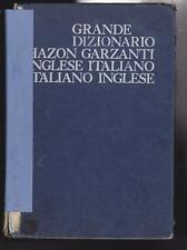 DIZIONARIO INGLESE ITALIANO ITALIANO INGLESE HAZON GARZANTI 1966