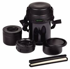 Japanese Large big Bento lunch box 3 containers THERMOS keep warm or cold 1200ml