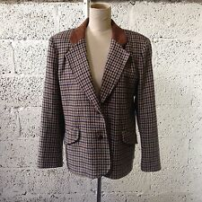 Unbranded Wool Blend Check Button Coats & Jackets for Women