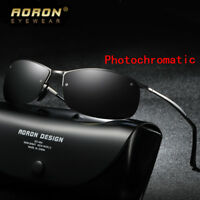 Men's Photochromic Polarized Sunglasses Transition Lens Driving Glasses Eyewear