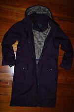 Women's Jack Murphy Dark Purple Hooded Trench Jacket (US 6)
