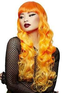 Manic Panic Psychedelic Sunrise Siren Wig Ladies Long Orange Fancy Dress Wig