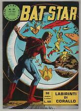 BAT STAR albi dell'avventuroso N.31 LABIRINTI DI CORALLO brick bradford 1963
