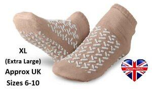 MEDLINE DOUBLE TREAD SLIPPERS NON SLIP ANTI SKID RESISTANT SOCKS MOBILITY AID XL
