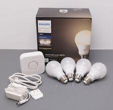 Philips Hue White A19 LED Smart Bulb Starter Kit 4-Pack 472001