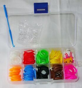 NEW FRIENDSHIP LOOM 270 BANDS CHARMS S HOOKS KIT IN SECTION BOX SALE