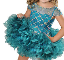 New Little Girls Jewel Crystal Dance Party Cupcakes Baby Short Pageant Dresses
