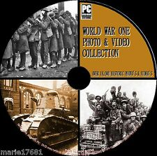 10,000+ WW1 PHOTO & VIDEO ARCHIVE, 14-18 FIRST WORLD WAR HISTORY NEW PC DVD ROM
