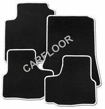 Für BMW 5er F07 Gran Tourismo Fußmatten Velours schwarz mit Rand weiß