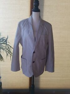 Goodfellows & Co Men's 2 Button Cream and Tan Striped Blazer, New with Tags,