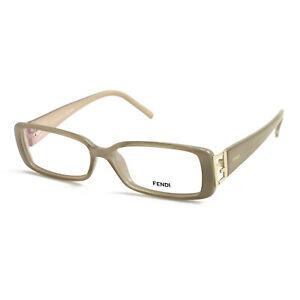 Fendi Eyeglasses Women Dark Beige Full Rim Rectangle 52 14 135 F975 264