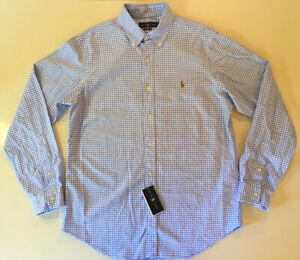 Polo Ralph Lauren Classic Fit Check Plaid Collar Button Casual Dress Shirt Large