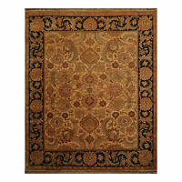 8' x 10' Hand Knotted 100% Wool Jaipur Oriental Area Rug Traditional 8x10 Gold