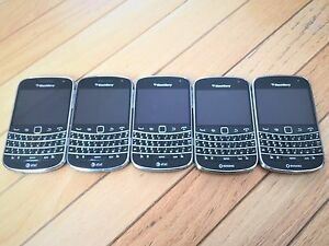 LOT OF 3 X BlackBerry Bold 9900 8GB -Black Wholesale Bulk Quantity GOOD WOKRING