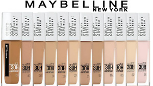 Maybelline Super Stay 30 Hour Foundation 30ml. Vearious Shades Brand New