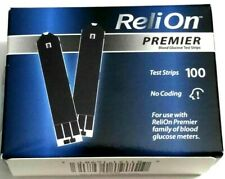 100 COUNT NEW ReliOn Premier Blood Glucose Test Strips EXP 08/2021 FREE SHIPPING