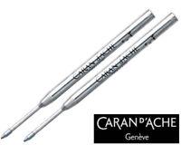 Caran D'ache Goliath Ballpoint Pen Refill Medium Blue (Pack of 2)