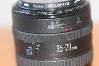 Objetivo Canon Ef Zoom 35-70mm 1:3.5-4.5, Macro con filtro Hoya UV