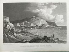 1829 Antique Print; Hastings from the White Rocks, Sussex - William Westall