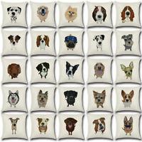 "Cute Dog Throw Pillow Case Sofa Cushion Cover Car Cotton Linen Pillowcases 18"""